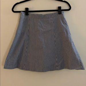 Loft Seersucker A-Line Skirt Size 2
